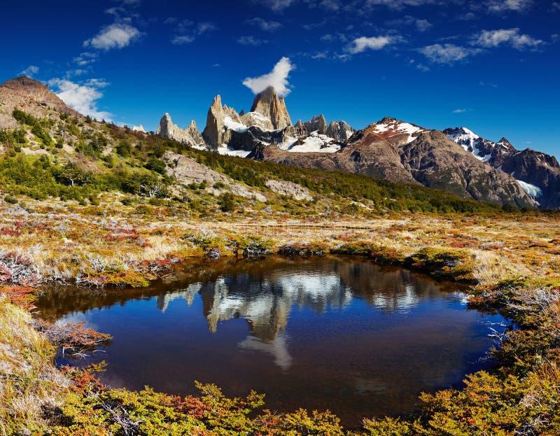 Montagem Fitz Roy, Argentina foto de stock