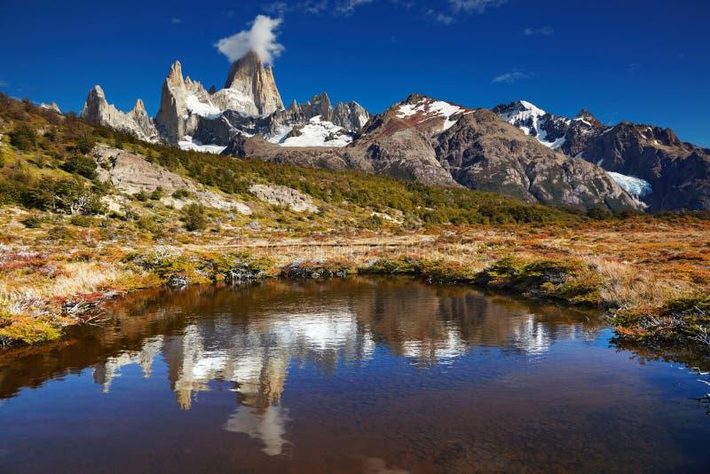 Montagem Fitz Roy, Argentina fotos de stock royalty free