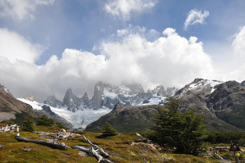 Montagem Fitz Roy Patagonia, Argentina fotografia de stock