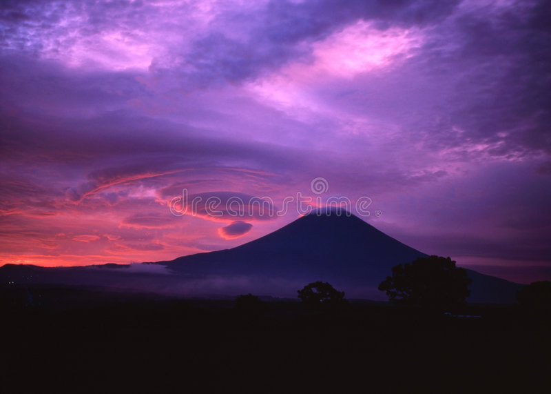 Montagem Fuji XXXVIII foto de stock