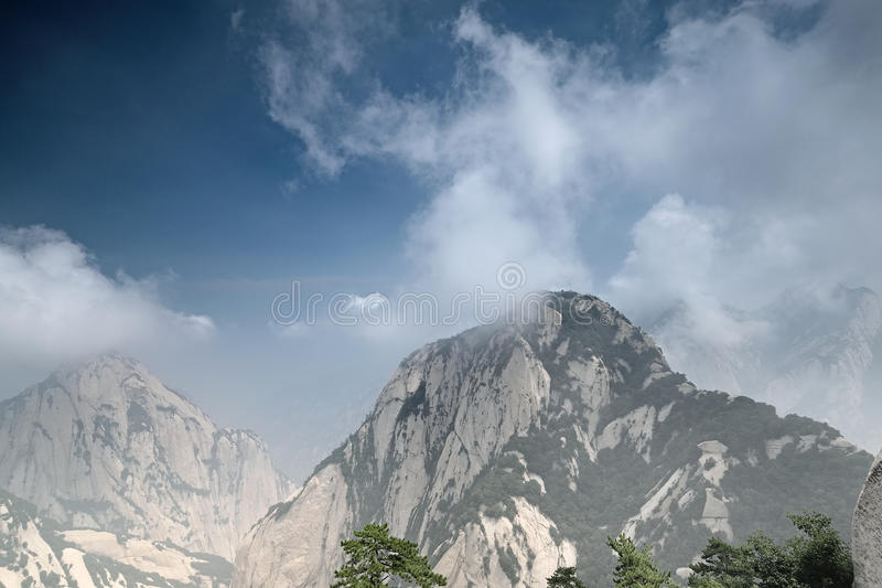 Montagem Hua China foto de stock