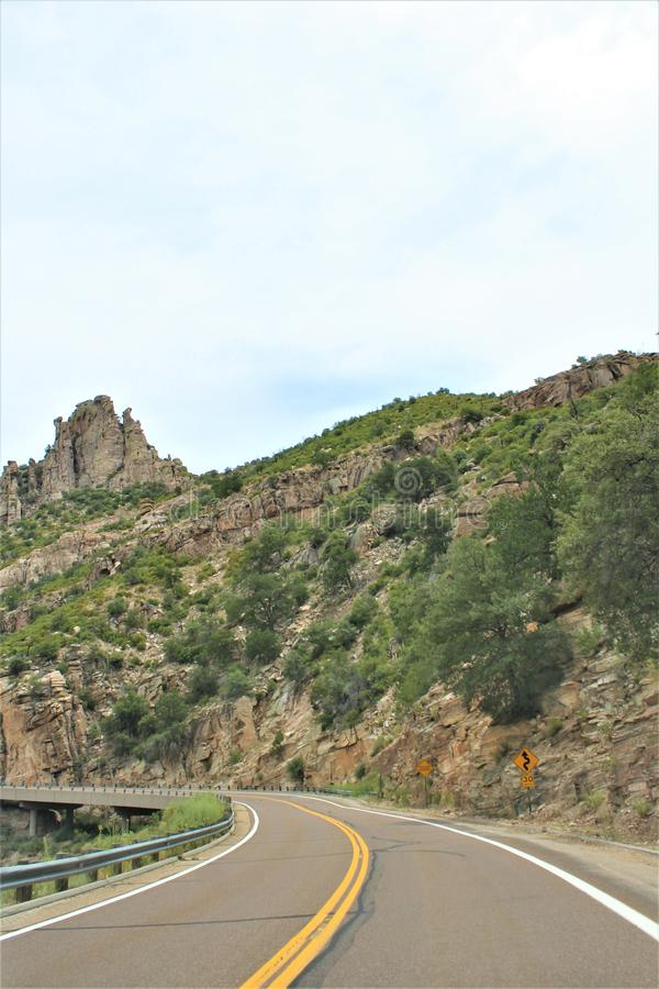 Montagem Lemmon, Santa Catalina Mountains, floresta nacional de Coronado, Tucson, o Arizona, Estados Unidos imagem de stock