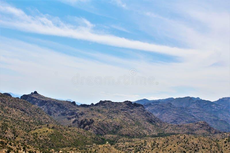 Montagem Lemmon, Santa Catalina Mountains, floresta nacional de Coronado, Tucson, o Arizona, Estados Unidos imagens de stock royalty free