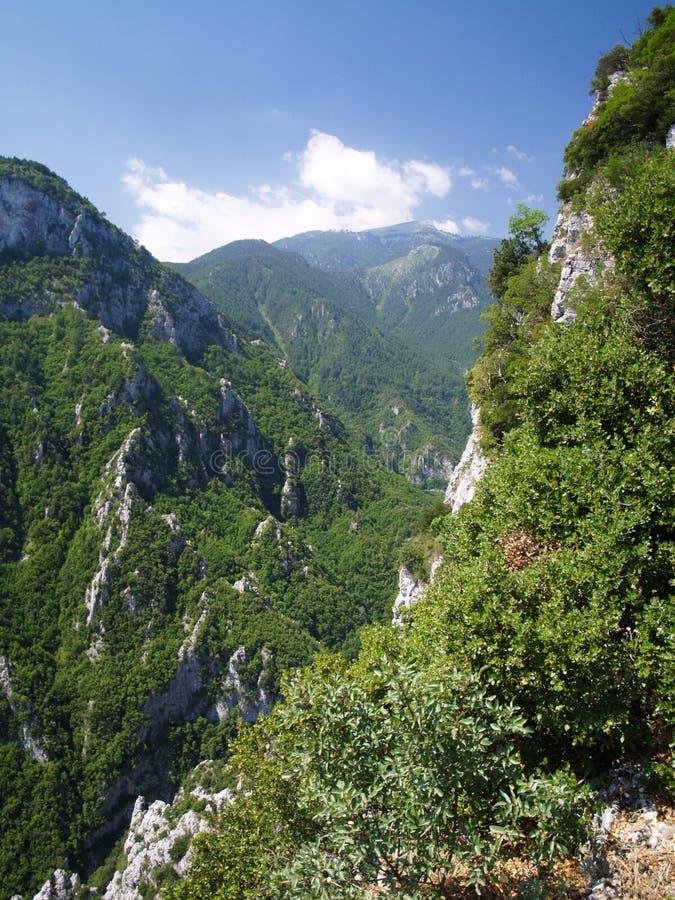 Montagem Olympus - o pico o mais elevado em Greece foto de stock