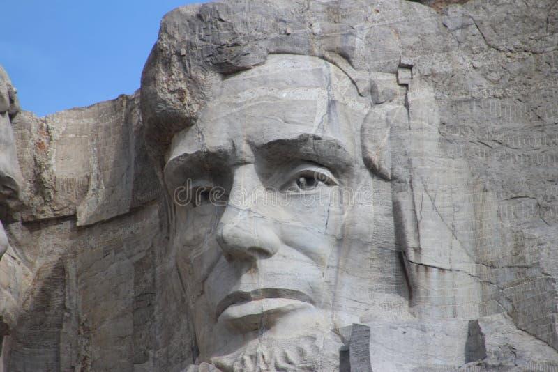 Montagem Rushmore- Abraham Lincoln foto de stock royalty free