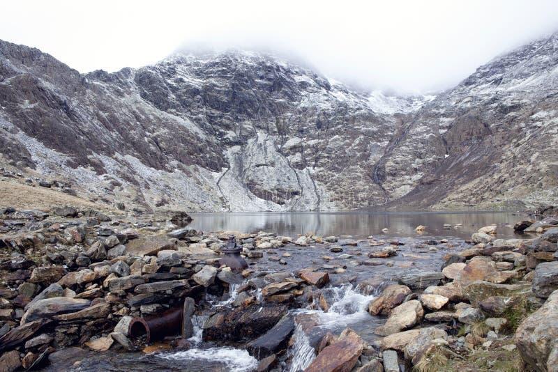 Montagem Snowdon, Snowdonia, Wales imagem de stock royalty free