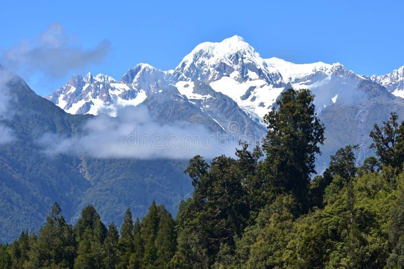 Montagem Tasman, Nova Zelândia fotografia de stock