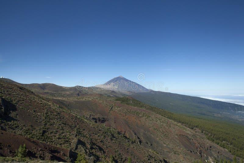 Montagem Teide em Tenerife, Ilhas Canárias fotografia de stock