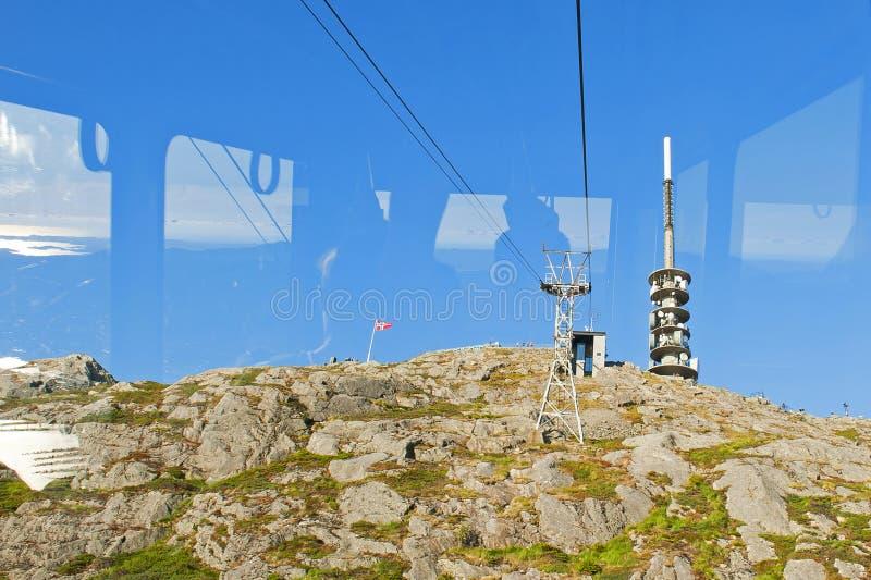 Montagem Ulriken em Bergen, Noruega imagem de stock