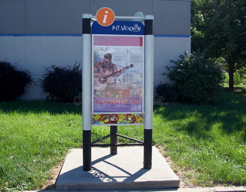 Montagem Vernon Illinois Welcome Center Exhibit foto de stock
