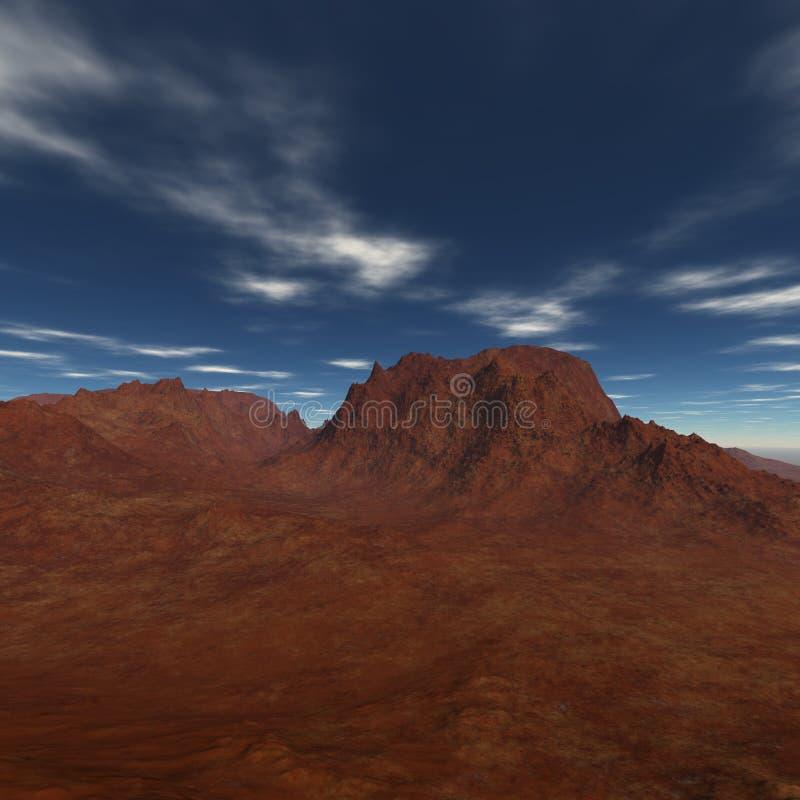 Montagens do deserto da altura ilustração stock