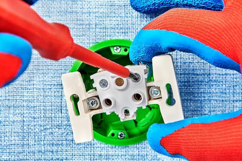 Montaggio del contenitore elettrico di campione europeo fotografie stock libere da diritti