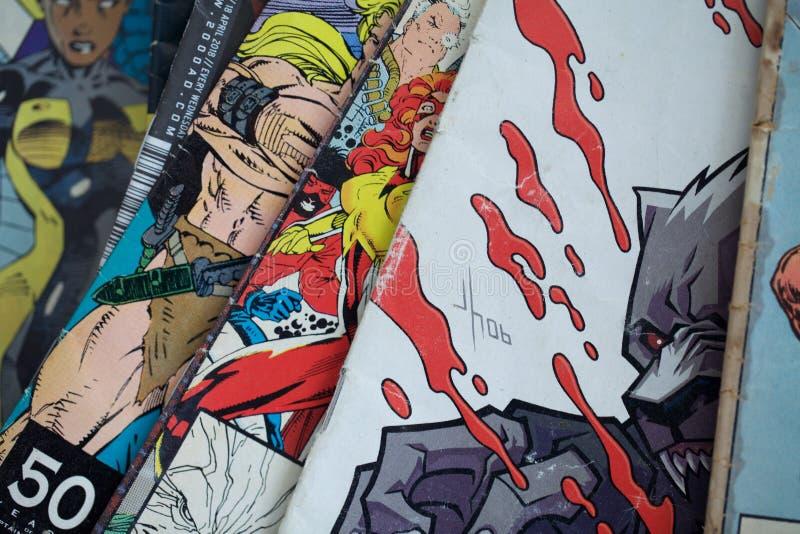 Montaggio del libro di fumetti immagini stock