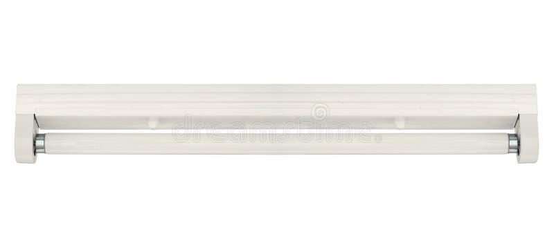 Montaggio dell'asse e lampada fluorescente fotografie stock