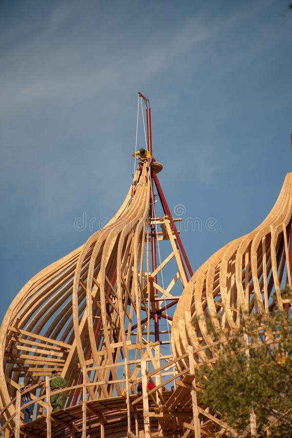 Montaggio della chiesa della cupola immagine stock