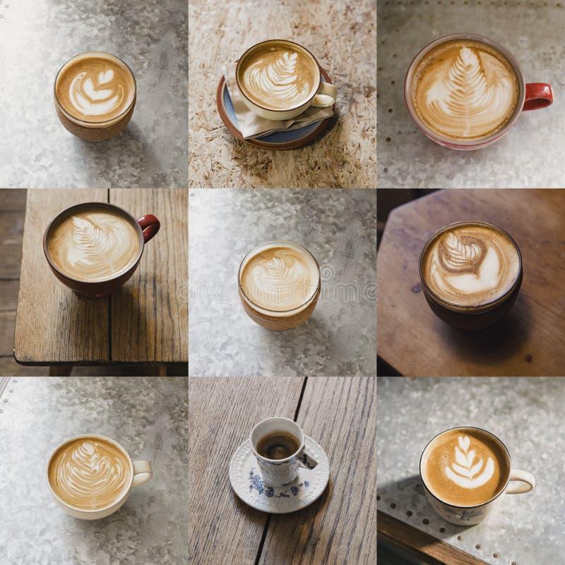 Montaggio di immagine del caffè fotografia stock