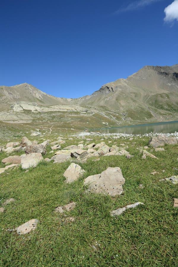 Montagna alpina in Francia immagini stock