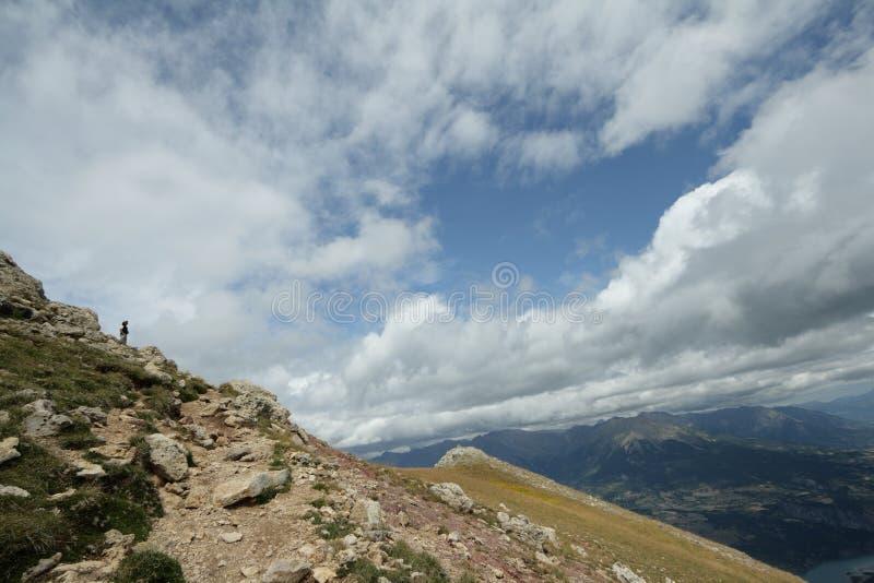 Montagna alpina in Francia immagine stock