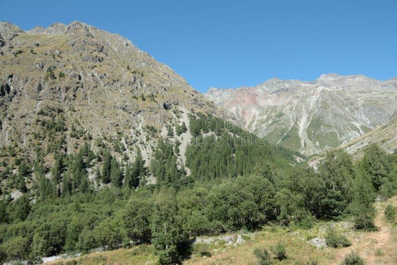 Montagna alpina in Francia fotografia stock libera da diritti
