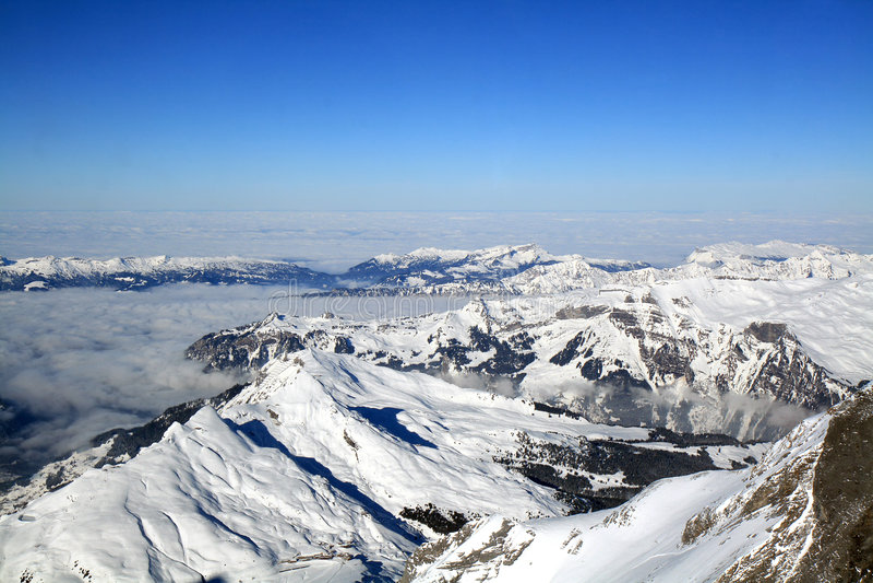 Montagna alpina svizzera fotografia stock libera da diritti