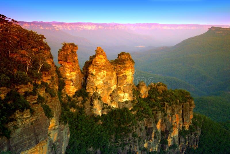 Montagna blu, NSW, Australia fotografie stock