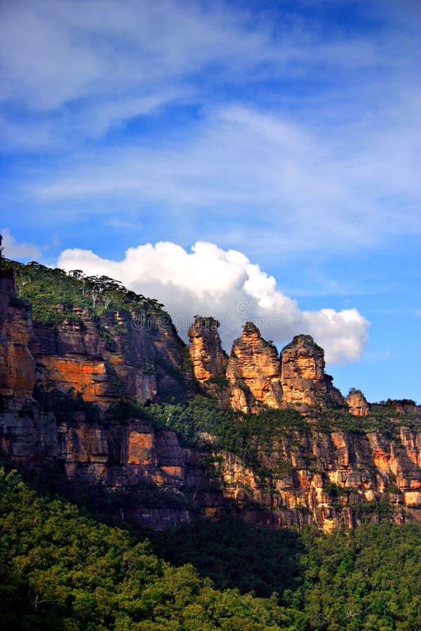 Montagna blu, NSW, Australia fotografie stock libere da diritti