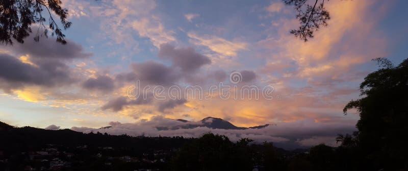 Montagna Caracas Venezuela di Avila di vista panoramica fotografia stock