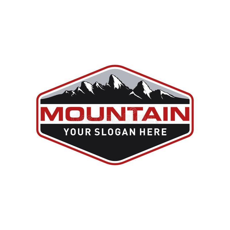 Montagna d'annata Logo Template illustrazione vettoriale