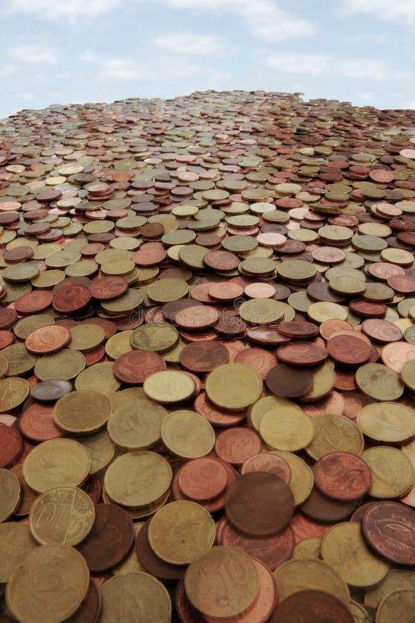 Montagna dei soldi fotografie stock