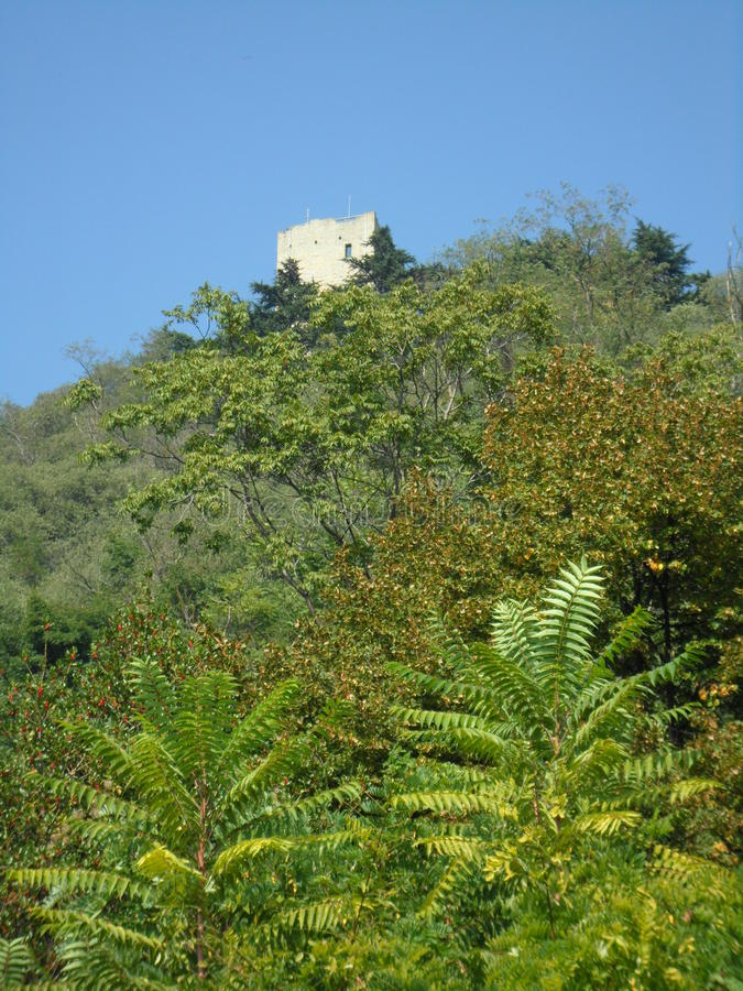 Montagna del castello fotografia stock