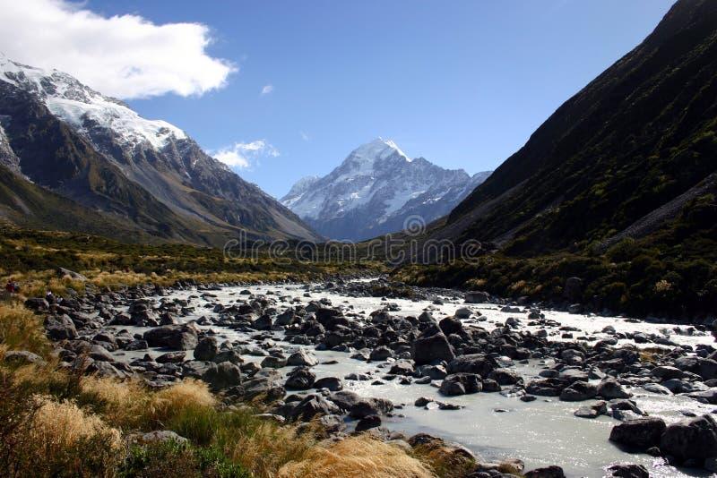 Montagna del cuoco, Nuova Zelanda fotografia stock