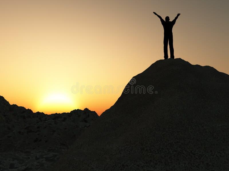 montagna dell'uomo fotografia stock