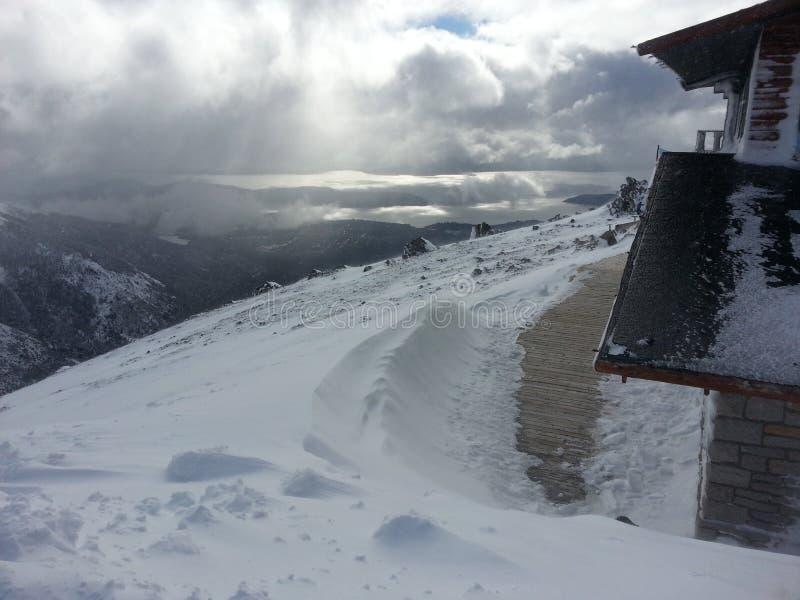 Montagna 2 della neve fotografia stock