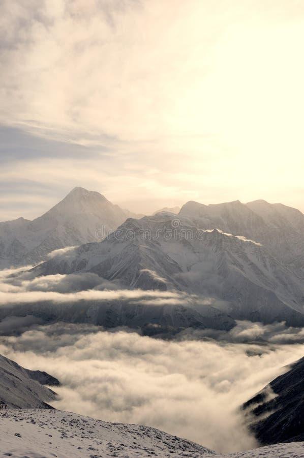 Montagna della neve di Gongga fotografie stock