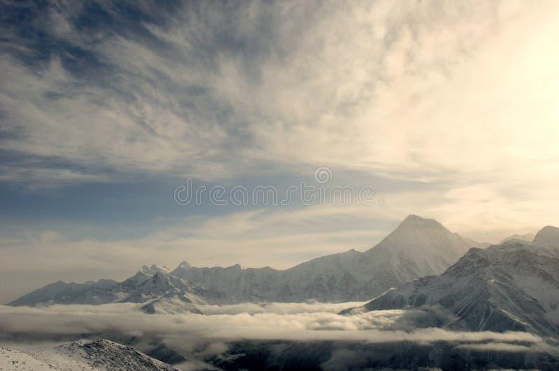 Montagna della neve di Gongga immagini stock