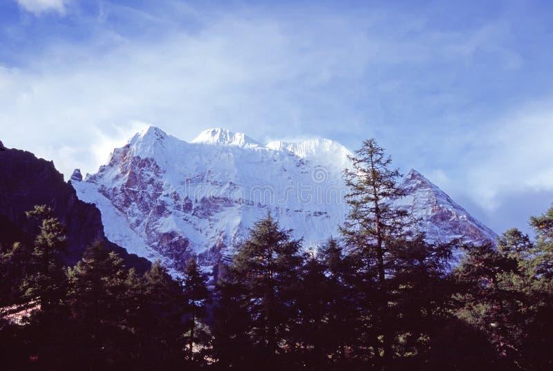 Montagna della neve di Xiannairi immagine stock