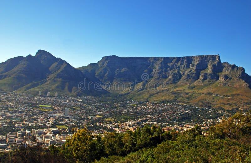 Montagna della Tabella e di Città del Capo (Sudafrica) fotografia stock