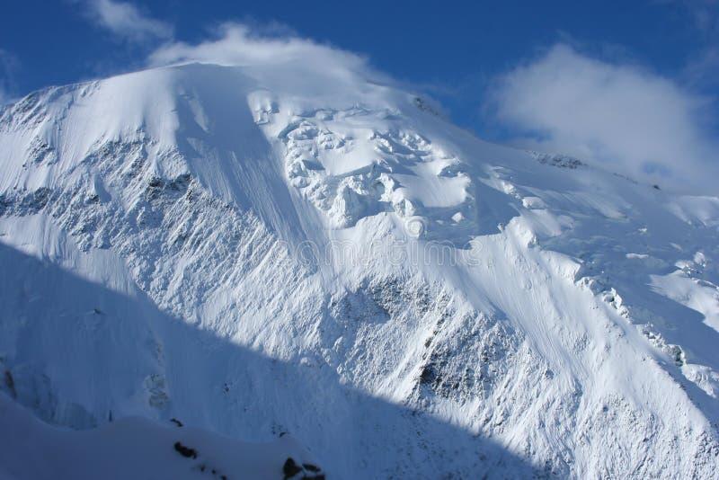 Montagna dello Snowy, Mont Blanc fotografia stock