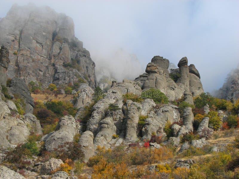 Montagna Demerdji - valle del fantasma - Alushta, Russia fotografia stock