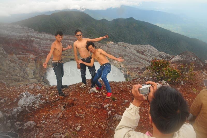 Montagna Dempo Indonesia fotografia stock