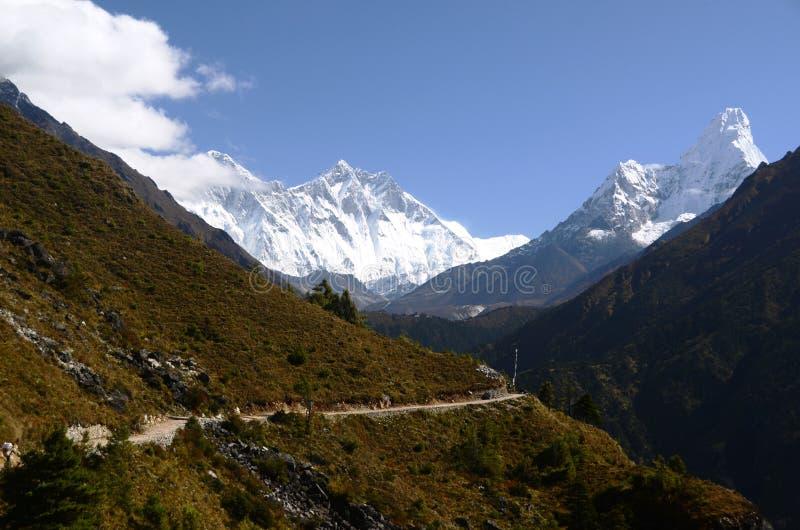 Montagna di Ama Dablam immagine stock