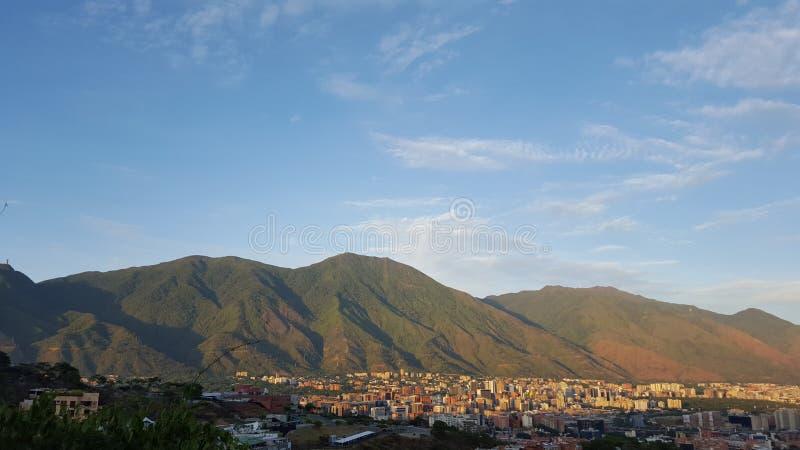 Montagna di Avila e di Caracas immagini stock libere da diritti