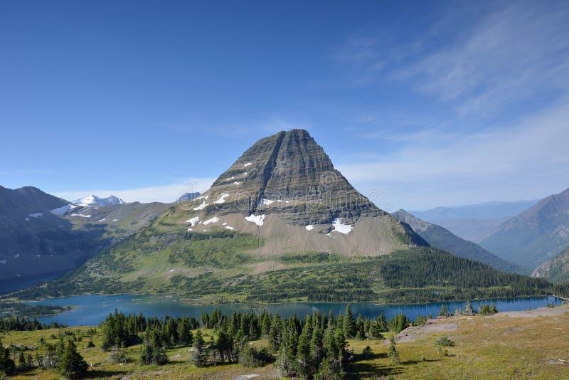 Montagna di Bearhat in Glacier National Park fotografia stock libera da diritti