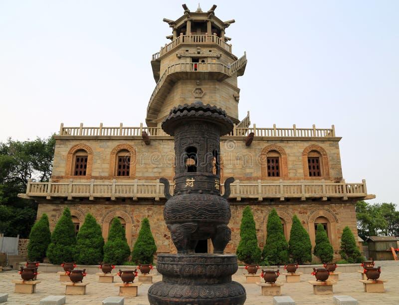 Montagna di bijia del padiglione di Sanqing in Cina fotografie stock