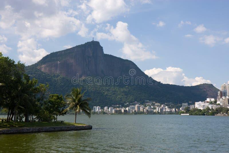 Montagna di Corcovado, Rio fotografia stock