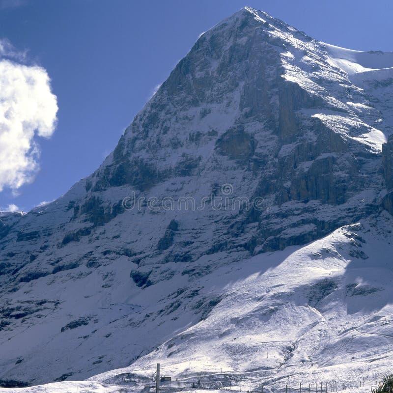 Montagna di Eiger. La Svizzera immagini stock