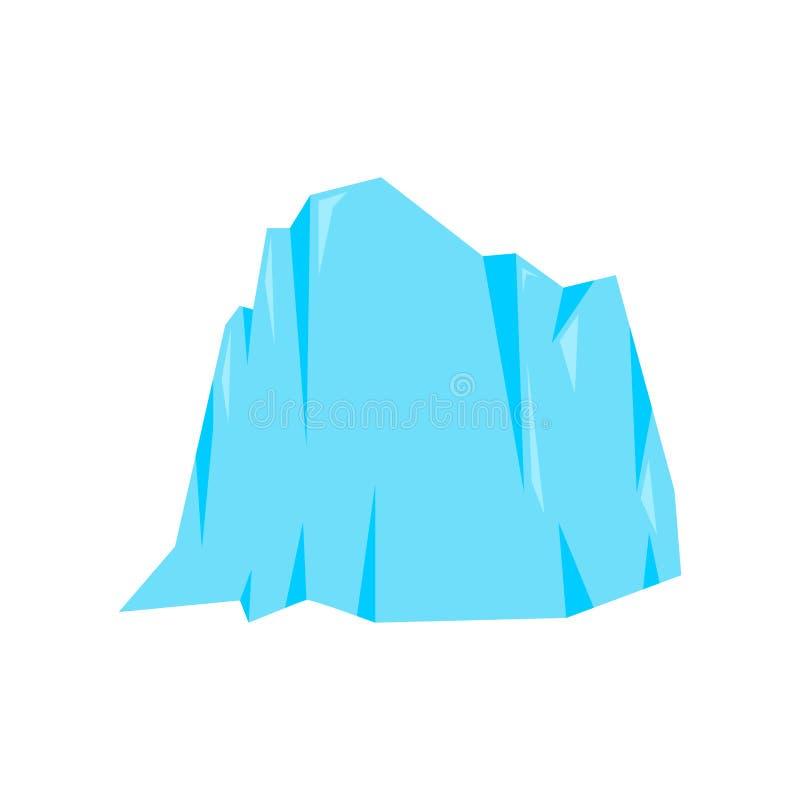 Montagna di ghiaccio isolata Roccia della neve Illustrazione di vettore dell'iceberg illustrazione di stock