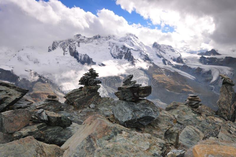 Montagna di Gornergrat fotografie stock