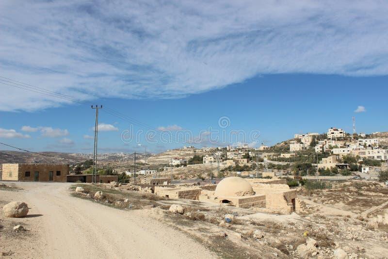 Montagna di Hermod vicino alle rovine antiche di Betlemme fotografia stock libera da diritti