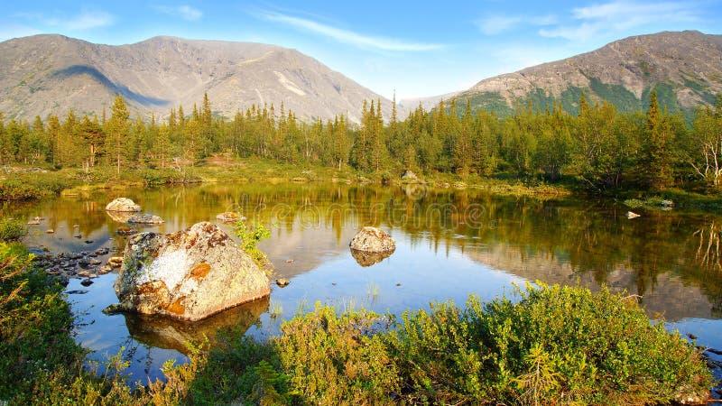 Montagna di Hibiny fotografie stock libere da diritti